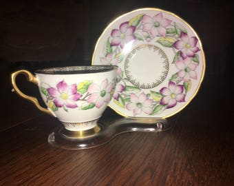 Vintage Royal Stafford Tea Cup And Saucer