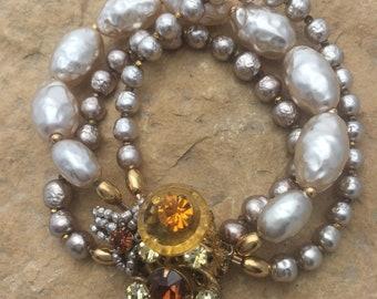 Vintage Miriam Haskell Recreated Bracelet