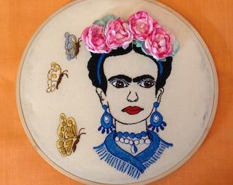 Broderie d'Art de Hoop «Frida Khalo».