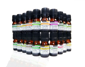 20 Essential Oils, 5ml Bottle AROMATHERAPY SET, 100% PURE, Undiluted, Lot/Wholesale