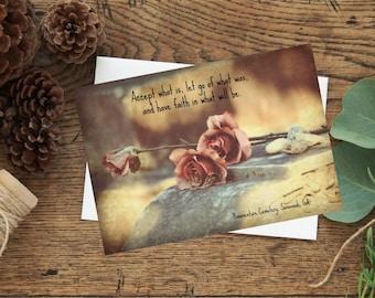 Encouragement, motivational photo greeting card