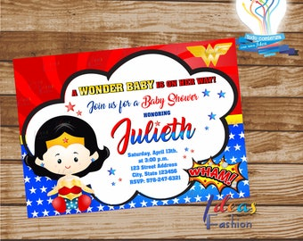 Card Wonder Baby /file  digital png, pdf. and eps party fiesta