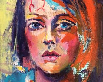 "Giclee print, ""Cradled dreams"", 9""X12"""