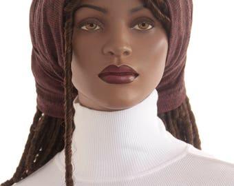 Hair Sock Lock Sock Brown Black Dreadlocks Hair Dreads Cotton Rib Knit Tube Sock Head Tube Hat Handmade