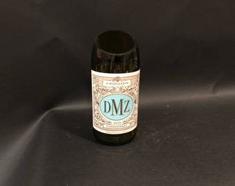 HandCrafted Candle Up Cycled D'Morgenzon DMZ 2014 Chardonnay Wine Bottle Soy Wax Candle- Angle Cut
