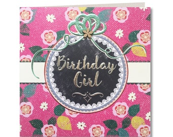 SALE 20% OFF Chroma Collection - Happy Birthday - Birthday Girl - for Her - Birthday Greeting Card - Greeting Card For Her - CH07