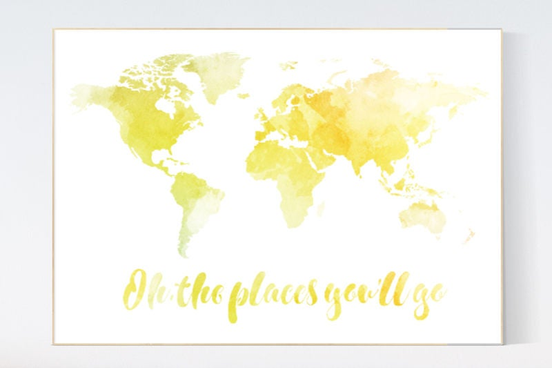 World map wall art, yellow world map, oh the places you'll go, watercolor on three-dimensional world map, vintage world map, painting world map, jewelry world map, silver world map, unique world map, sepia world map, artistic world map, illustration world map, colorful world map, flowers world map, creative world map, miniature world map, doodle world map, transparent world map, nature world map, old world map, cute world map, blank world map, abstract world map,