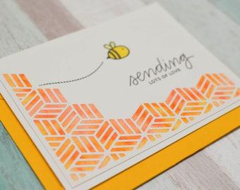 Honey Bee - Sending Love Card