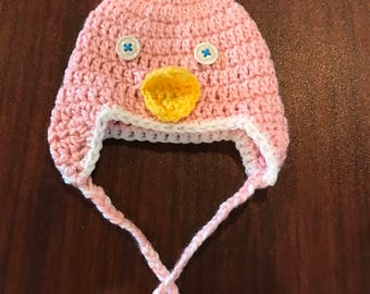 Crochet Chick Hat - Baby Chick Hat - Infant Chick Hat - Newborn Photo Prop - Baby Hat - Infant Hat - Chick Hat - Pink Hat