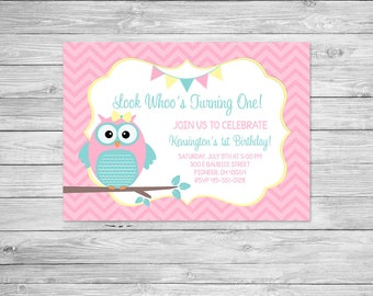 Fall owl invite Etsy