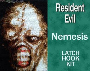Resident Evil - Nemesis - Latch Hook Kit - DIY Latch Hook Rug 11 * 17 Inches