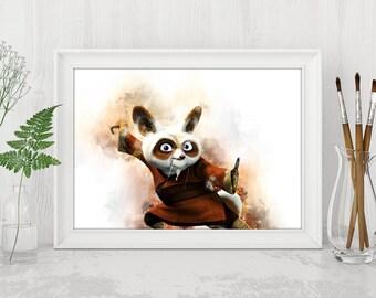 Shifu Print Kung Fu Panda Printable Kung Fu Panda Print Kung Fu Panda Dreamworks Instant Download Birthday Printable Art n482