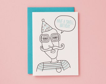 Have A Swell Birthday / Letterpress Card