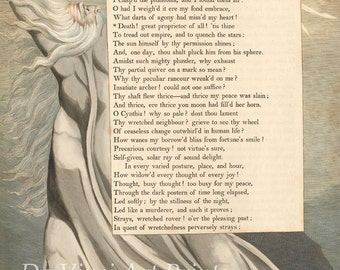 "The Illustrations of William Blake. Night-Thoughts: Page 8, ""Death! The Great Proprietor"", 1797. Fine Art Reproduction."