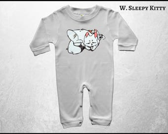 Cat Baby Pajamas, New Mom Baby Clothes, Anime Cat Clothes, Infant Sleeper, Personalized Baby Romper, Infant Creeper, Free Shipping