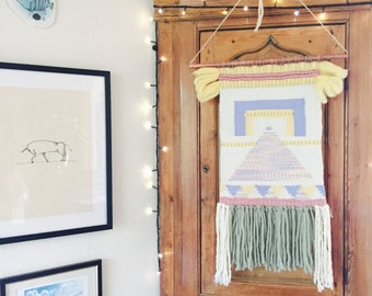 Large Woven Wall Hanging || Fiber Art || Tapestry