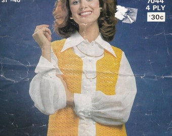 ON SALE 2 Sirdar, No 7044, 7035 1 Kaiapoi No 975, Crochet  Patterns Vintage for Women 1970s