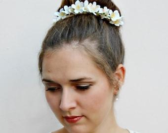 LILIANA - floral Bun Belt, flower crown for your hair bun, Coachella flower crown, hair bun accessories, flower crown, bridal hair crown