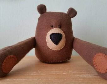 HUG IN A BOX - Burt Bear - Handmade Gift for a far away friend