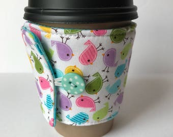 Spring Chicks Coffee Cup Cozy - Cup Cozy - Reusable Cup Sleeve - Ice Cream Sleeve - Gift Idea