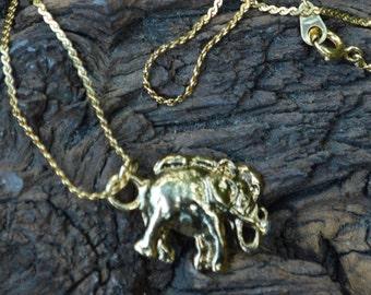 Elephant Pair Necklace