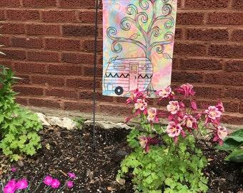Garden Flag *Original Artwork - Sunshine Day Camper*
