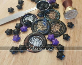 Galaxy Seal - Bespoke, self-adhesive wax envelope seals for all occasions