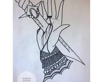 Gypsy Hand with Dagger