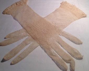 Vintage Ladies Mesh Gloves