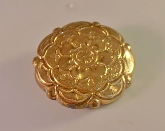 Victorian Etched Brooch, Gold Filled