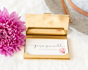 Rose Gold|Business Card Holder|Gift for Mom|Card Holder|Credit Card Holder|Gift|ID Holder|Rose Gold Accessories|Metal Card Holder|Travel