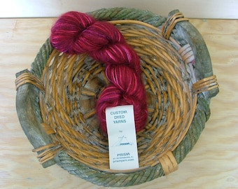 Prism Yarn Kid Slique Hand Dyed Made in USA Cabernet Crochet Knit