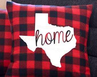 Personalized Home State Plaid  Pillow Case