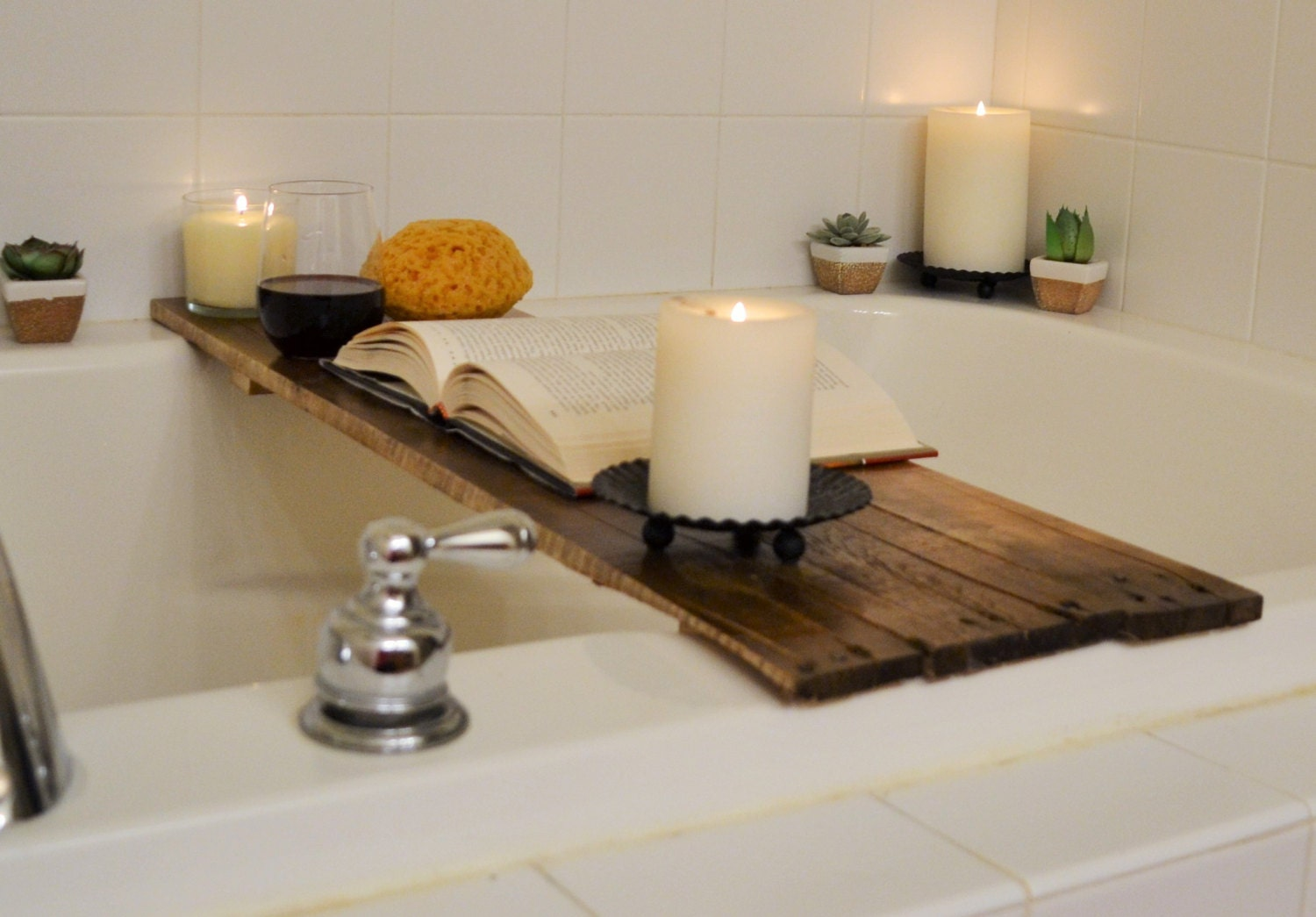 Bathtub Tray Bathing Board for storing items during bath time