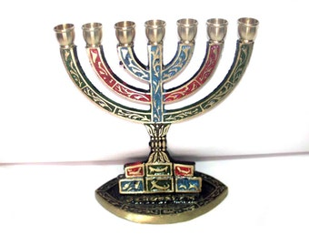 Jewish menorah,jerusalem,jewish traditions,holy land menoarh,the Holy Temple,decorated menorah