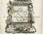 1823 Perrot Map of AUBE F...