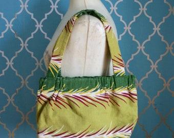 1940s Tropical Barkcloth Bag