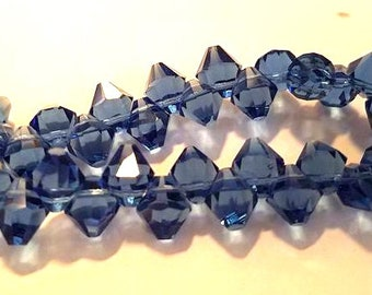 8mm side bicone glass beads