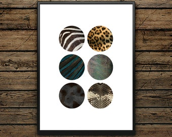 "Illustration Poster Paris ""Animals Skin"" - Scandinavian Style - Wall decoration - Print - Poster - Ideal for Gift"