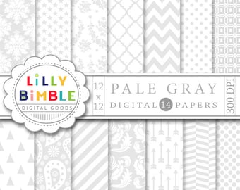 Elegant gray and white digital papers for wedding invitations, designs, Damask, arrows, paisley Neutral download