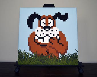 Duck Hunt Laughing Dog Canvas Print