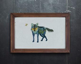 Wolf Wall Art Print Giclee Print