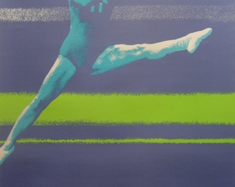 Original 1972 Munich Olympic Games Gymnastics Poster