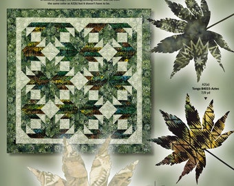 Maple Leaf Flurries paper piecing pattern by Quiltworx / Judy Niemeyer