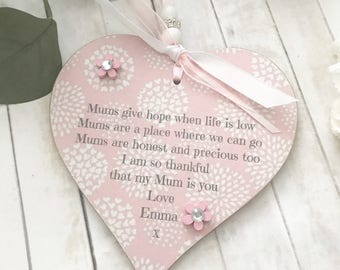Personalied Mums Heart Gift P349