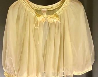 Vintage evening nightgown jacket