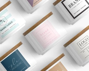 Promotional products, labels for candles, Custom product packaging, Custom Product Sticker, logo stickers, custom logo label, square sticker