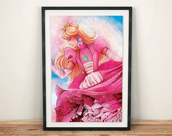 "Official RootisTabootus - ""Princess Peach"" Super Mario Art Print"