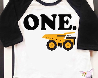 Birthday Shirt Dump Truck birthday number Any Age birthday shirt Two One Three Four Construction party shirt truck birthday shirt Birthday
