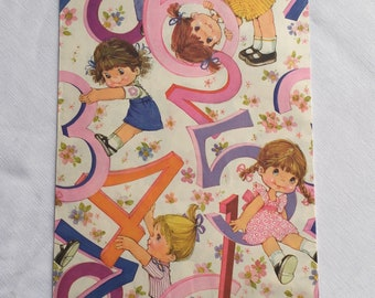 Vintage | Big Eyed Girl | Gift Wrap | Wrapping Paper #2